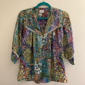 Anthropologie Dolan silk blouse